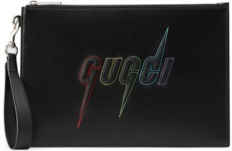 Gucci Pouch with Blade embroidery