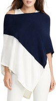 Lauren Ralph Lauren Asymmetric Color Block Poncho