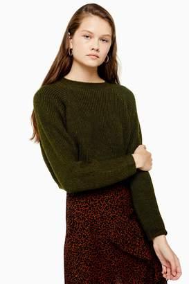 Topshop Knitted Super Crop Jumper