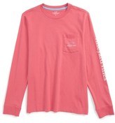 Vineyard Vines Boy's 'Vintage Whale' Long Sleeve Pocket T-Shirt