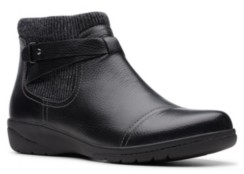 Clarks Collection Women's Cheyn Kisha Leather Booties Women's Shoes