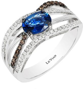 LeVian Le Vian 14K 0.98 Ct. Tw. Diamond & Sapphire Ring