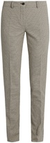 Etro Circle-jacquard slim-leg cotton-blend trousers