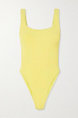 Hunza G Seersucker Swimsuit - Yellow
