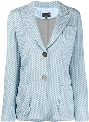 Emporio Armani Patterned Knitted-Style Blazer