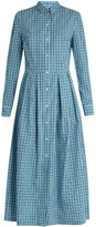 Stella Jean Checked cotton shirtdress