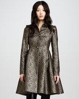 Connie Metallic Flounce Coat