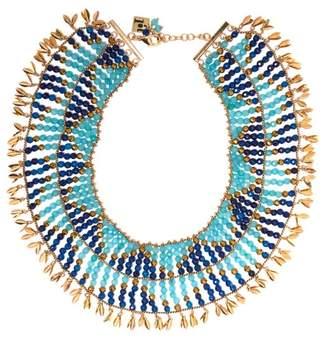 Rosantica Indios Beaded Necklace - Womens - Blue