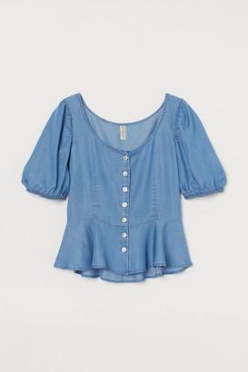 H&M Lyocell peplum blouse