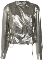 Isabel Marant Metallic Silk Nestor Top
