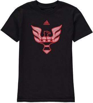 adidas Youth Black D.C. United Element T-Shirt
