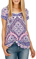 Lucky Brand Short Sleeve Printed T-Shirt
