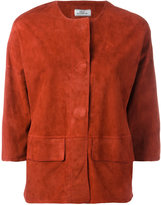 Desa Collection - concealed fastening cropped jacket - women - Suede - 36
