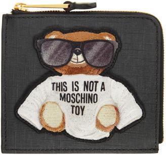 Moschino Black Bear Zip Wallet
