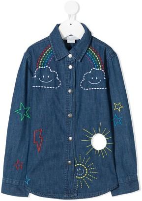 Stella McCartney Kids Embroidered Denim Shirt