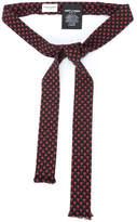 Saint Laurent Y-motif ascot neck-tie