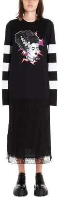 Prada Graphic Print Lace Petticoat Dress