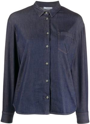 Peserico Contrast Stitch Denim Shirt