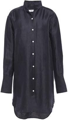 Frame Clean Linen-blend Mini Shirt Dress