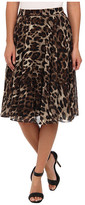 Badgley Mischka Leopard Flare Skirt