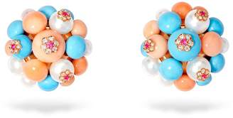 David Morris Large Berry Cluster Earrings