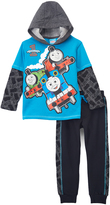Children's Apparel Network Thomas & Friends Blue Layered Hoodie & Joggers - Toddler