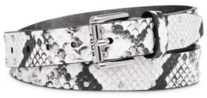 DKNY Studded Snake-Embossed Belt