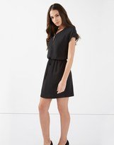 Lipsy Zip Front Short Sleeve Dress