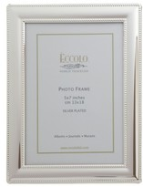 Eccolo Beaded Silver Picture Frame