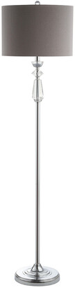 Jonathan Y Designs Layla 59.5In Crystal Metal Led Floor Lamp With Shade