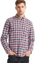 Gap Oxford box plaid standard fit shirt