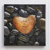 Heart Rock 20-Inch x 20-Inch Canvas Print