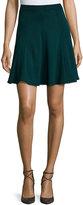 Andrew Gn Flared Knit Skirt, Bottle Green