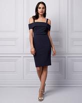 Le Château Ponte Cold Shoulder Shift Dress