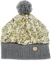 Simonetta sequinned knit hat