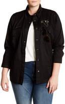 Jolt Embellished Shirt Jacket (Plus Size)