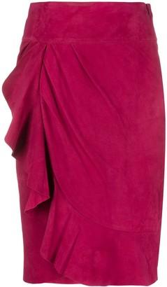 BA&SH Suzette frilled skirt