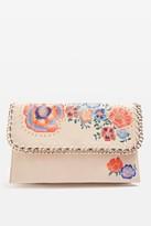 Topshop CHESTER Floral Clutch Bag
