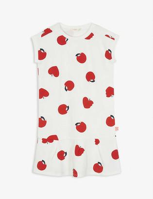Billieblush Apple-print cotton-jersey dress 4-12 years