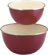 Paula Deen 1.5qt & 3qt Enamel on Steel Mixing Bowl Set, Red