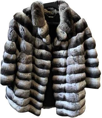 Santi Nello Grey Chinchilla Coat for Women