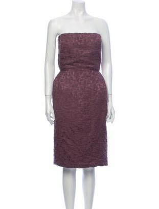 Bottega Veneta Strapless Mini Dress Purple