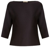 Bottega Veneta Boat-neck wool-crepe top