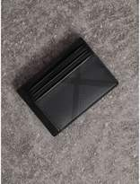 Burberry Check Money Clip Card Case