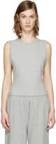 Alexander Wang Grey Open Back Twist Tank Top