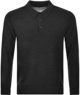 Michael Kors Merino Polo T Shirt Grey