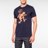 Paul Smith Men's Slim-Fit Navy 'One Way' Print Supima-Cotton T-Shirt