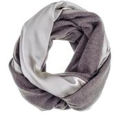 Black Champagne Silk and Soft Brown Cashmere Snood