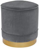 Kim Salmela Piper Stool - Charcoal Velvet frame, brass; upholstery, charcoal