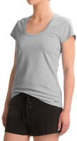 Naked Essential Cotton Stretch T-Shirt - Scoop Neck, Short Sleeve (For Women)